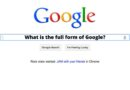 What is the fullform of google?
